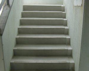 アパート・マンションのコンクリート階段の無機質特殊コーティング