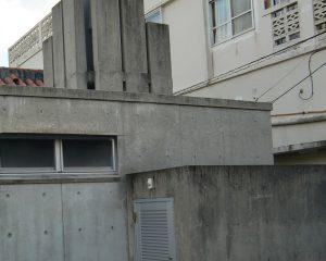 コンクリート打ちっぱなしの風合い復元の施工前