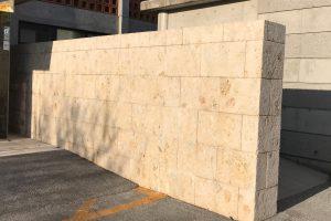 琉球石灰岩風合い復元と特殊コーティング